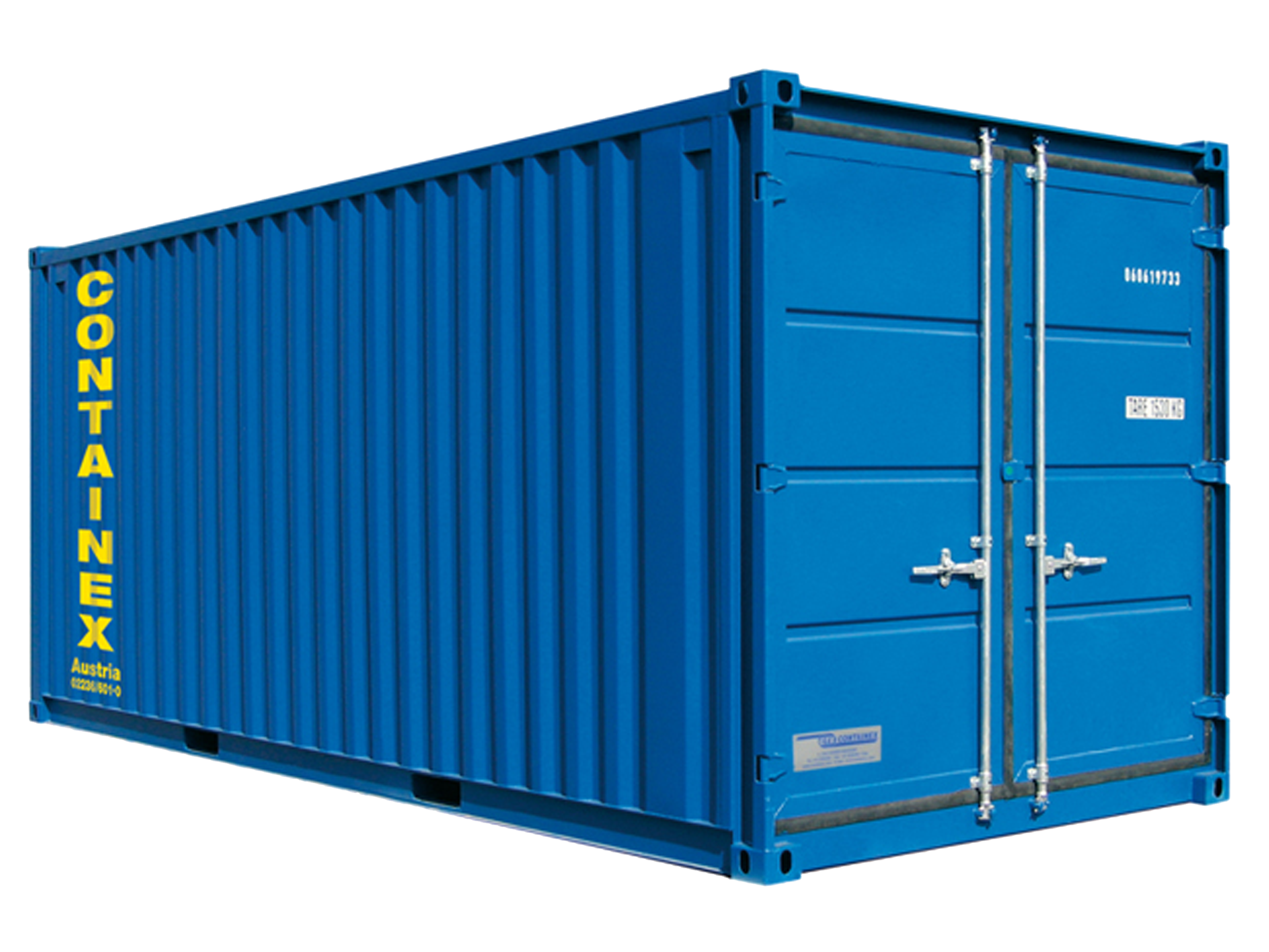 Container mat riels containex 3 x 2 5 m vlok for Devis container